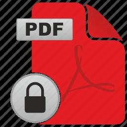 acrobat, adobe, api, lock, password, pdf, protect icon