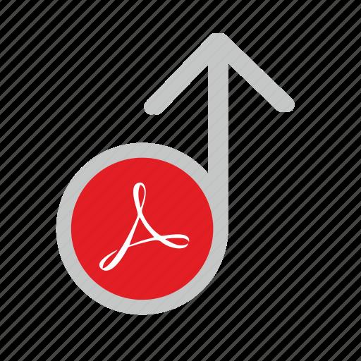 acrobat, api, file, pdf, round, upload icon