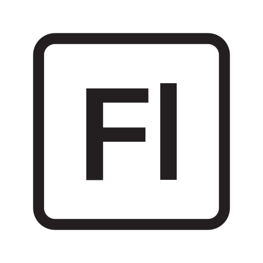 adobe, extension, file, flash, format icon