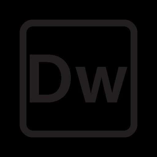 adobe, dream weaver, extension, file, format icon