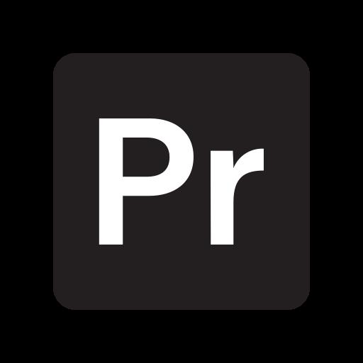adobe, extension, file, format, preimere icon