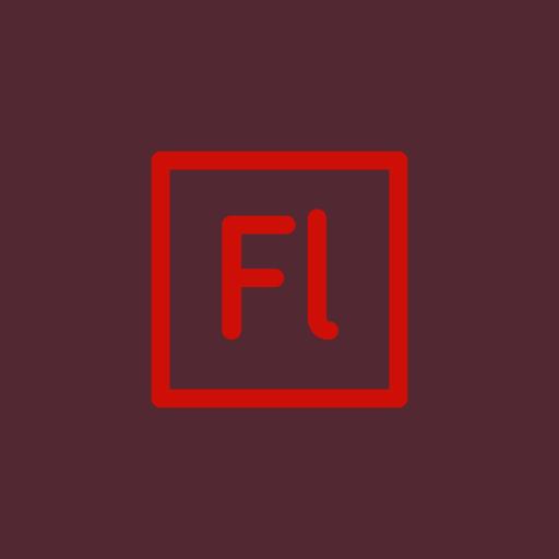 adobe, bridge, flash icon