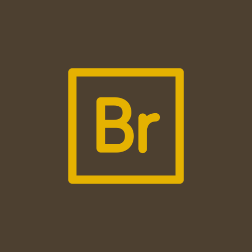 adobe, bridge, encore icon
