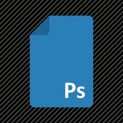 adobe, documents, files, photoshop, psd, type icon