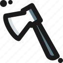 adventure, axe, chopper, cut, hatchet icon
