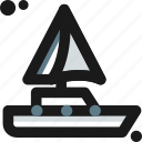 adventure, barge, beach, boat, canoe, sailboat, ship icon