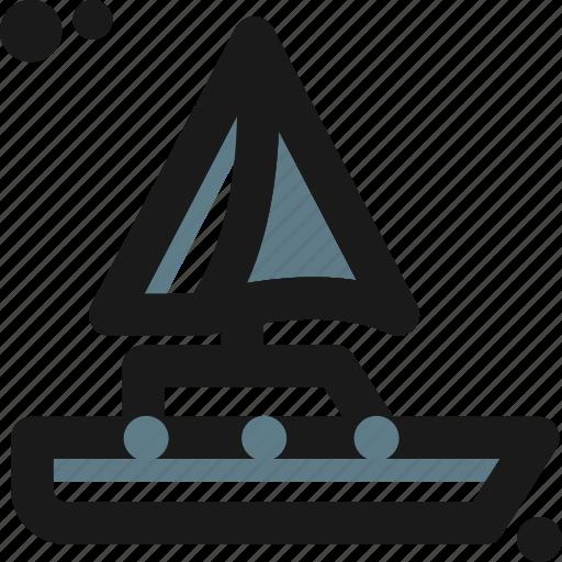 adventure, barge, beach, boat, canoe, sailboat, ship icon