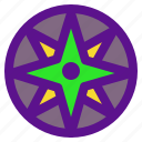 activity, compass, extreme, sport icon