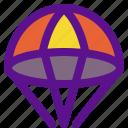 activity, extreme, parachute, sport icon