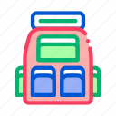 adventure, backpack, bag, camping, travel icon