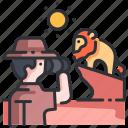 africa, animal, binoculars, nature, park, safari, wildlife icon