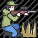 gun, hunt, hunter, nature, sport, wild, wildlife icon