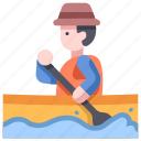 adventure, boat, canoe, kayak, outdoor, sport, water icon