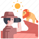 africa, animal, nature, safari, travel, wildlife, binoculars icon