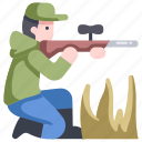 forest, gun, hunt, hunter, outdoor, wild, wildlife icon