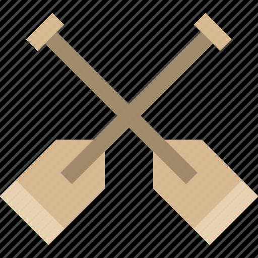 canoe, oar, paddle, rafting icon