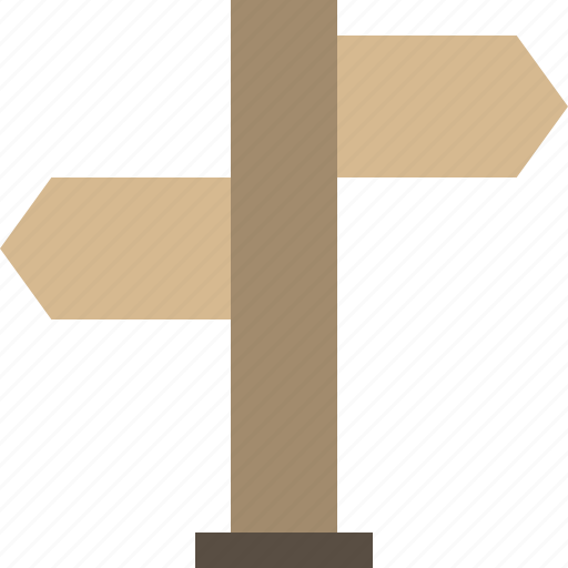 fingerpost, guide post, sign, wood icon