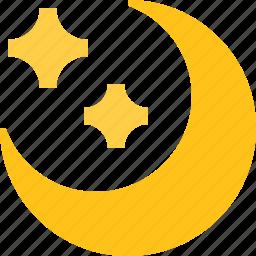 light, moon, night, star icon