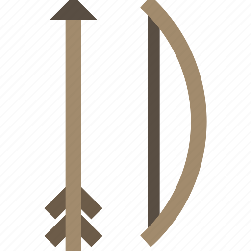arrow, bow, hunting, weapon icon