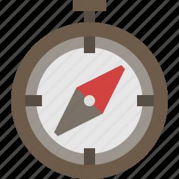 adventure, compass, direction, navigation icon
