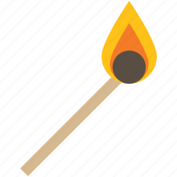 fire, flame, lighter, match stick icon