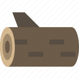 cut, log, wood, woodlog icon