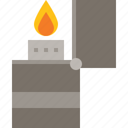 fire, flame, lighter, zippo icon
