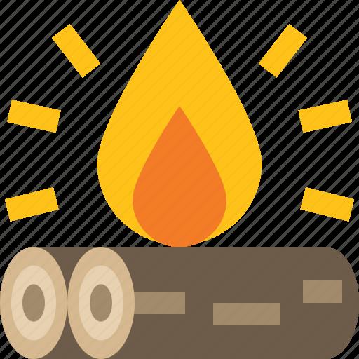 bonfire, campfire, fire, flame icon