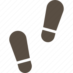 footprint, human, shoe, track icon