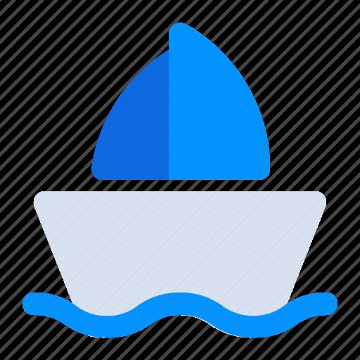 adventure, boat, journey, recreation, sailor, ship, trip icon