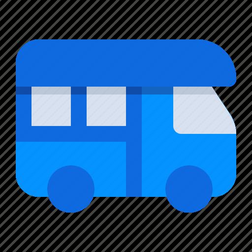 adventure, car, holiday, journey, recreation, trip, van icon