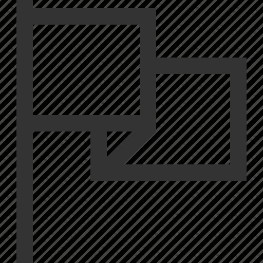 flag, mark, pin, waving icon
