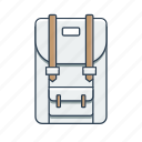 backpack, hiking, hiking backpack, pack icon