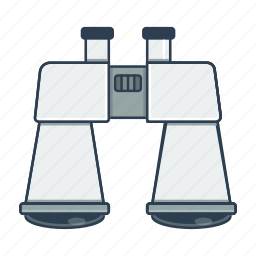 binoculars, spyglass icon