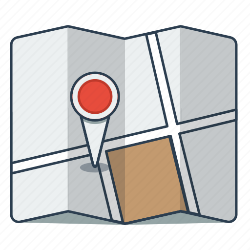 gps, map, navigation, road map, travel icon