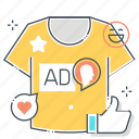 custom, design, designer, printing, shirt, sweatshirt, t icon