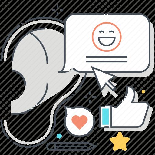 buzz marketing, ear, gossip, hand, listen, talk, whisper icon