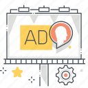 advertisement, advertising, announcement, banner, billboard, marketing icon