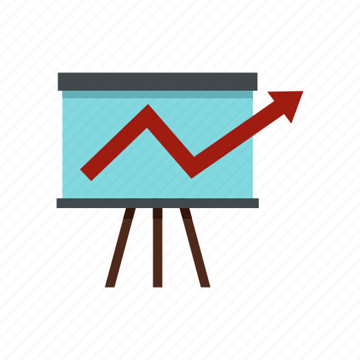 board, business, chart, display, graph, information, screen icon