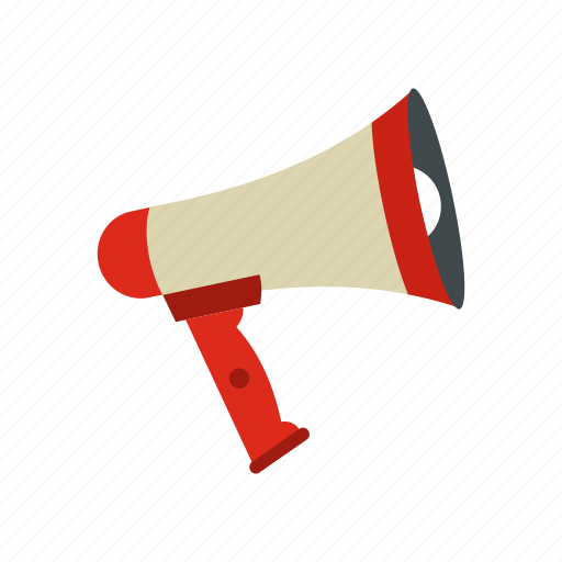 ad, advertising, announcement, business, megaphone, message, speaker icon