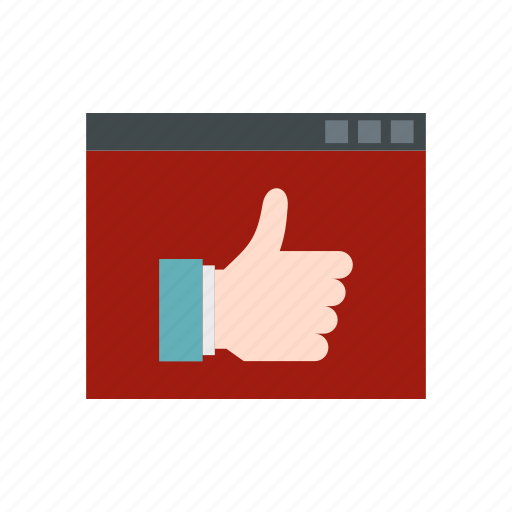 business, communication, hand, screen, technology, thumb, up icon