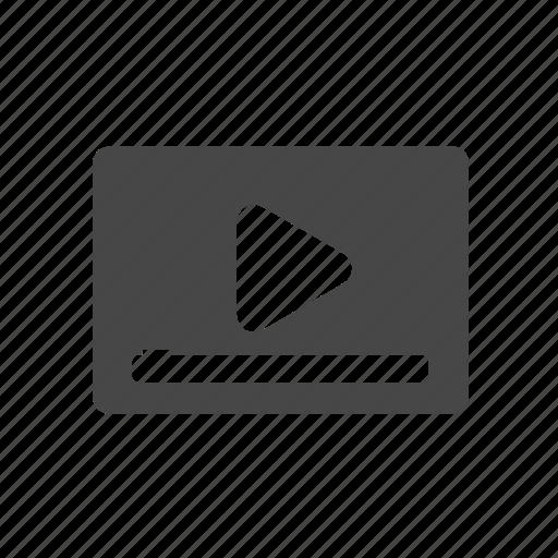 advertisement, video icon