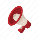 advertisement, announce, bullhorn, cartoon, megaphone, promotion, speaker icon