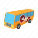 advertisement, announcement, bus, cartoon, outdoor, transport icon