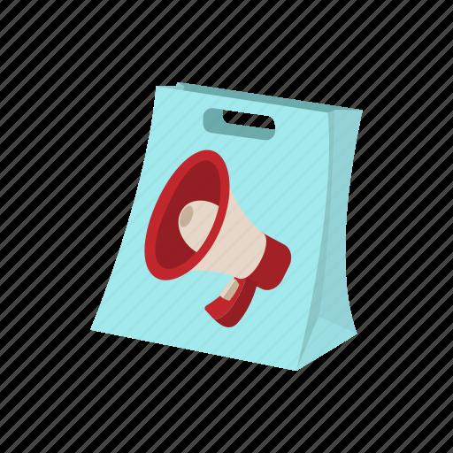 advertisement, bag, buy, cartoon, marketing, shoping, shopping icon