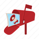 advertisement, cartoon, correspondence, mailbox, megaphone, poster icon