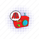 ad, advertising, comics, music, radio, retro, sound icon