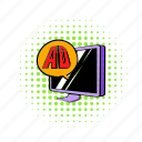 ad, comics, computer, device, pc, smartphone, technology icon