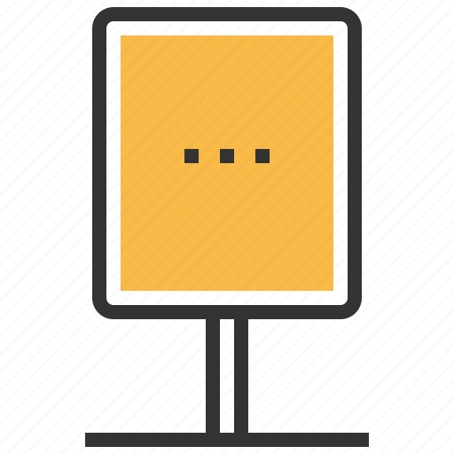 advertisement, advertising, announcement, communication, message, stand icon