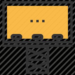 billboard, business, finance, marketing, presentation icon